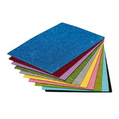 Kookie EVA Foam Sheets Glitter 20 Piece