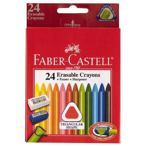 Faber-Castell Crayons Erasable 24 Pack