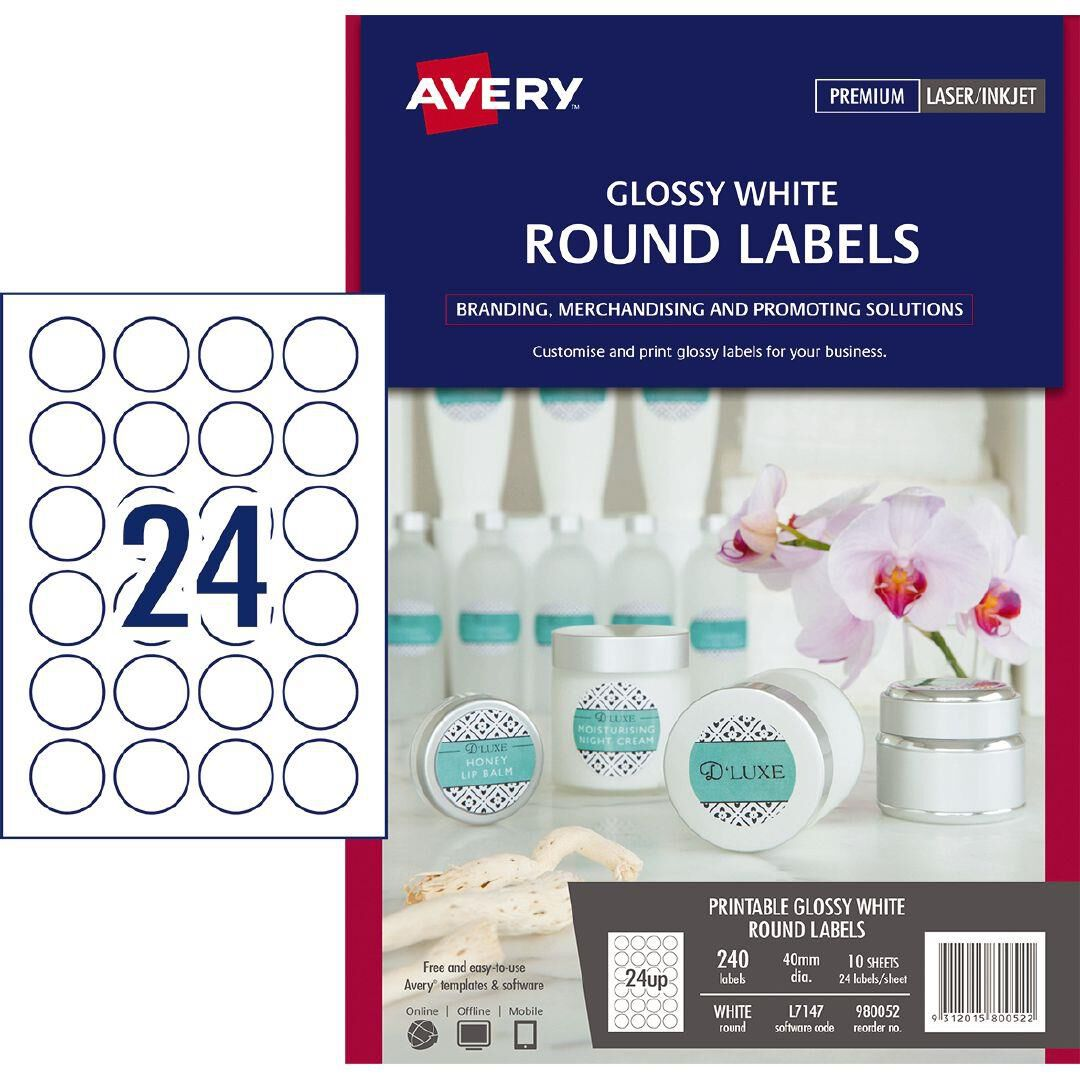 photo regarding Avery Printable Stickers named Avery Warehouse Stationery, NZ