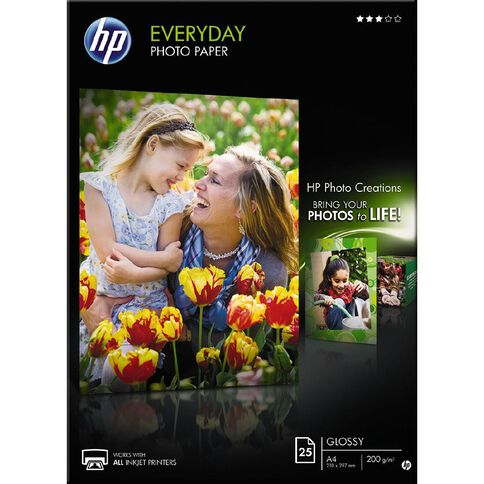 HP Photo Paper Q5451A Glossy 200gsm 25 Pack A4