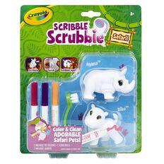 Crayola Scribble Scrubbies Safari Pet Pack Rhino Hippo