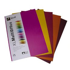 Quill Coloured Paper 80gsm 100 Pack Hot A4