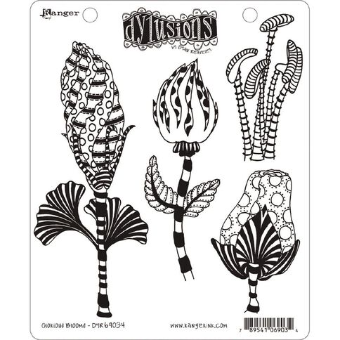 Ranger Dylusions Stamp Glorious Blooms