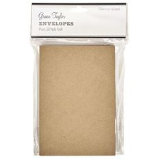 Grace Taylor Envelopes 50 Pack Kraft