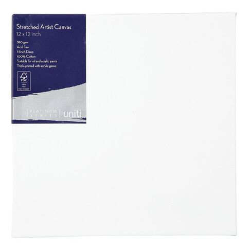 Uniti Platinum Canvas 12x12 Inches 380Gsm