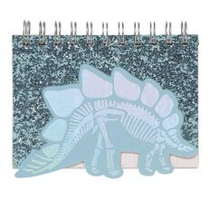 Kookie Dinosaur Shaped Glitter Notepad A6