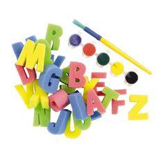 Kookie Alphabet Sponges with Paint Brush 26 Pack