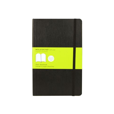 Moleskine Classic Soft Cover Large Notebook Unlined Black