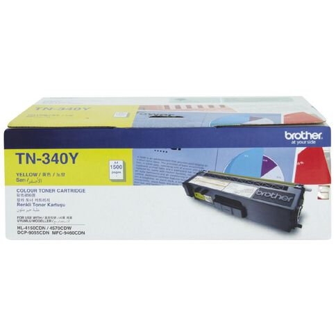 Brother Toner TN340 Yellow (1500 Pages)