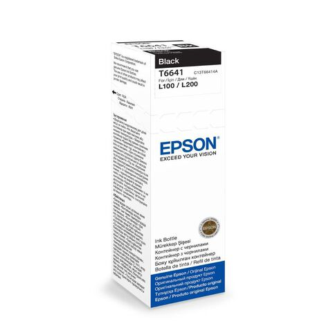 Epson Ink T6641 Black 70ml Bottle (4000 Pages)