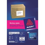Avery Laser Labels L7165-8 Pack 100