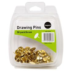 WS Drawing Pins 50 Pack Brass