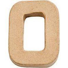 Paper Mache Alphabet Small Symbol O 10cm Brown