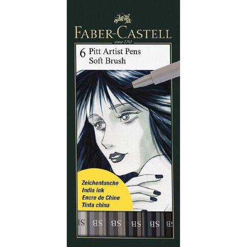 Faber-Castell Pitt Artist Brush Pens Soft 6 Pack