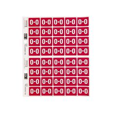 Filecorp Coloured Labels O Red