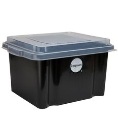 Impact Suspension File Box With Lid Black