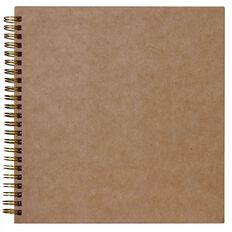 Rosie's Studio Album 8 x 8 Plain Kraft Brown
