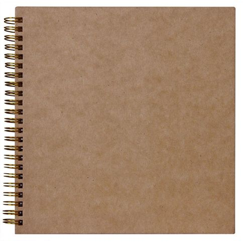 Rosie's Studio Album 8 x 8 Plain Kraft Brown
