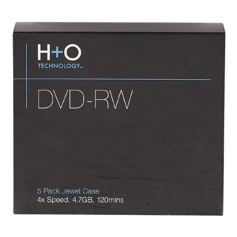 H+O Dvd-Rw 4X 4.7Gb 5-Jewel Case