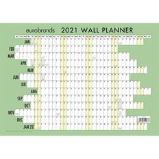 Eurobrands 2021 Wall Planner Non Laminated (297x420mm) A3
