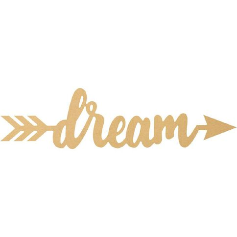 Rosie's Studio MDF DIY Wall Art Dream Arrow