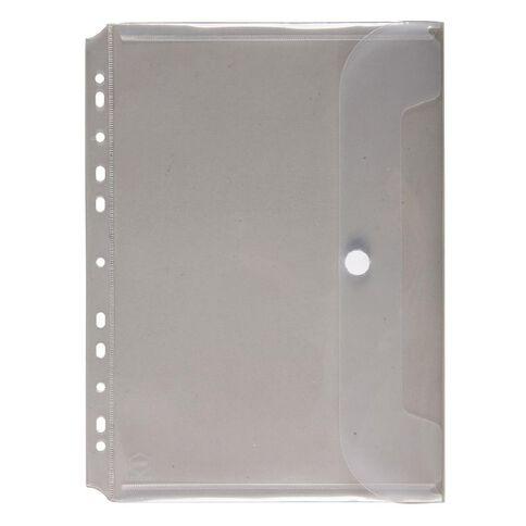 Marbig Wallet Binder Polyprop Hook And Loop Clear A4