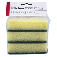 Kitchen Essentials Scouring Pads 3 Piece