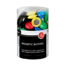 Quartet Magnetic Buttons 50 Pack Assorted