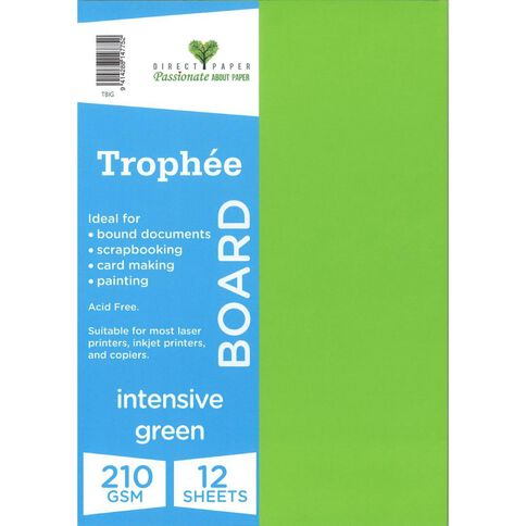 Trophee Board 210gsm 12 Pack Intensive Green A4