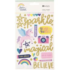 Rosie's Studio Dream In Colour Glitter Foam Stickers