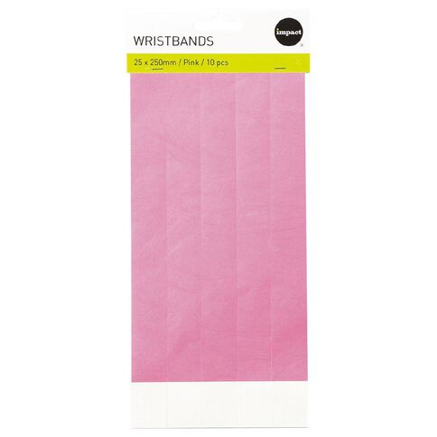 Impact Wristbands Pink 10 Pieces