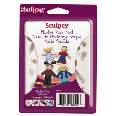 Sculpey Push Mold Family Time