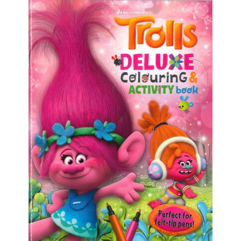 Trolls Deluxe Colouring & Puzzle Book