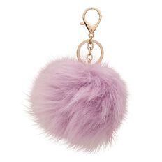 Kookie Novelty-P Fluffy Keyring Purple