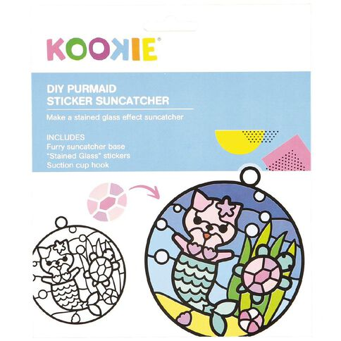 Kookie Sticker Suncatcher Kit Purrmaid