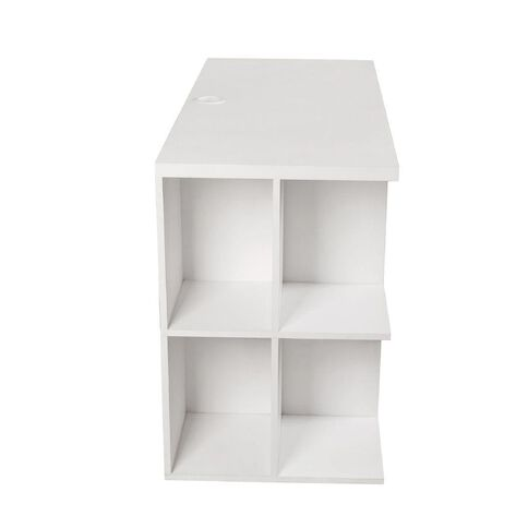 Workspace Moda Bookcase Desk White