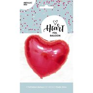 Foil Balloon Heart Shaped Red 45cm