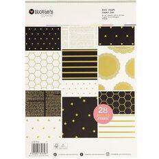 Rosie's Studio Essential Paper Pad Gold Foil A4 28 Sheet