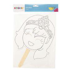 Kookie Stick Masks Diecut White 4 Pack