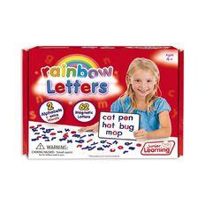 Junior Learning Rainbow Letters Print