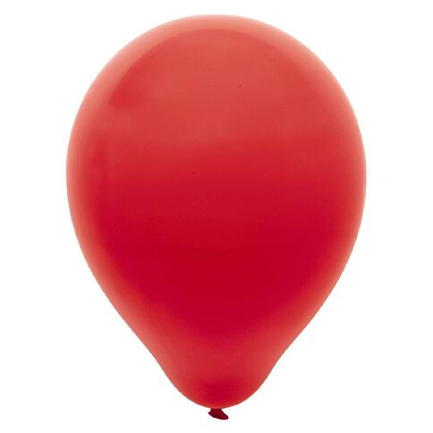 Party Inc Balloons Solid Colour Red 25cm 25 Pack