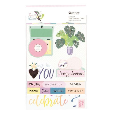 Rosie's Studio Thrive and Shine Layered Sticker Pack