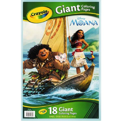 Disney Crayola Moana Giant Colouring Pages