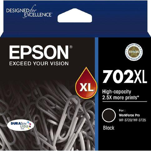 Epson 702XL DURABrite Ink Black (1100 Pages) | Warehouse Stationery, NZ