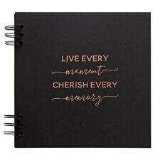 Rosie's Studio Album Black and Foil Live Every Moment 8 x 8