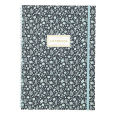 Uniti Winter Bloom Spiral Notebook A4