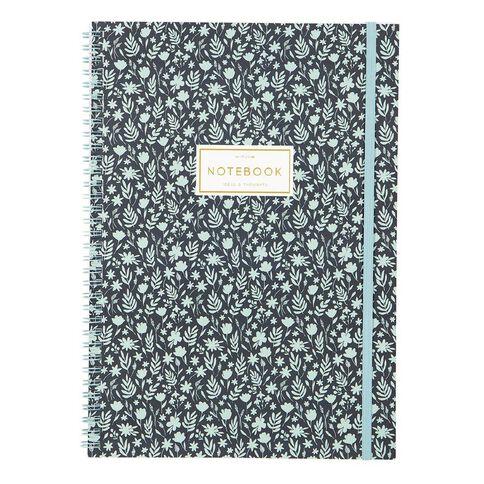 Uniti Winter Bloom Spiral Notebook A4