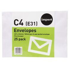 Impact Envelope E31/C4 White Peel & Seal 25 Pack