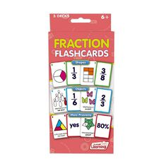 Junior Learning Fraction Flashcards