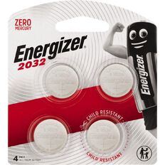 Energizer Lithium Coin Batteries 2032 3 Volt 4 Pack